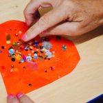 a hand making craft
