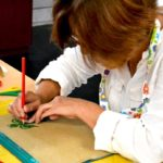 woman doing craft