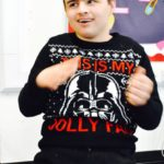 Student in Christmas jumper
