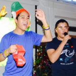 young boys singing at christmas concert