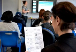 Parents/carers in a session about CAMHS