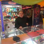 Young child in arcade at Hastings