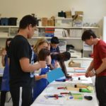 Students in a workshop at the Royal Academy