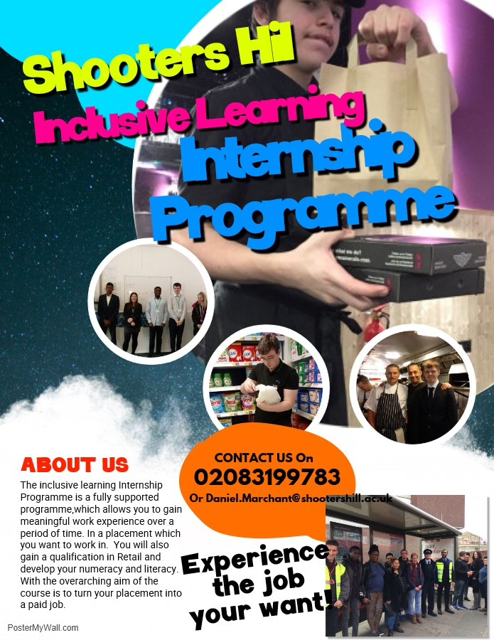 Poster for Shooters Hill internship