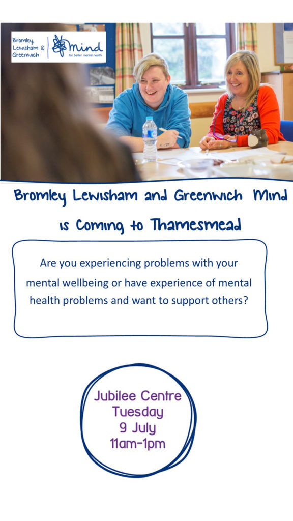 Poster for MIND in Thamesmead