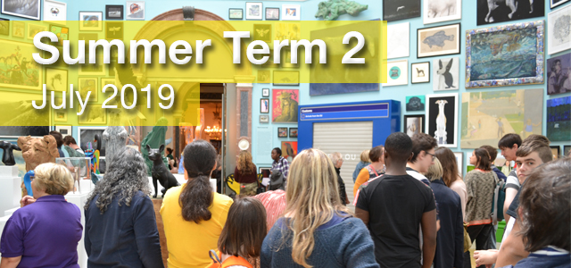 Web Banner with the summer RA exhibition as the theme