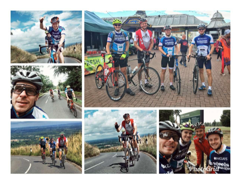 Bike riders collage