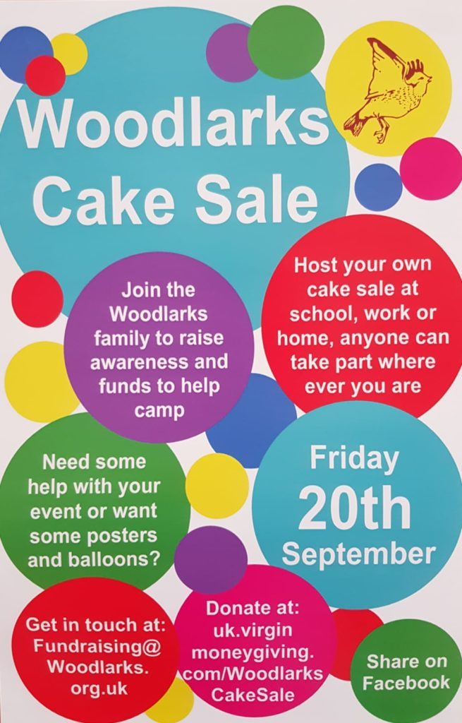Poster for cake sale