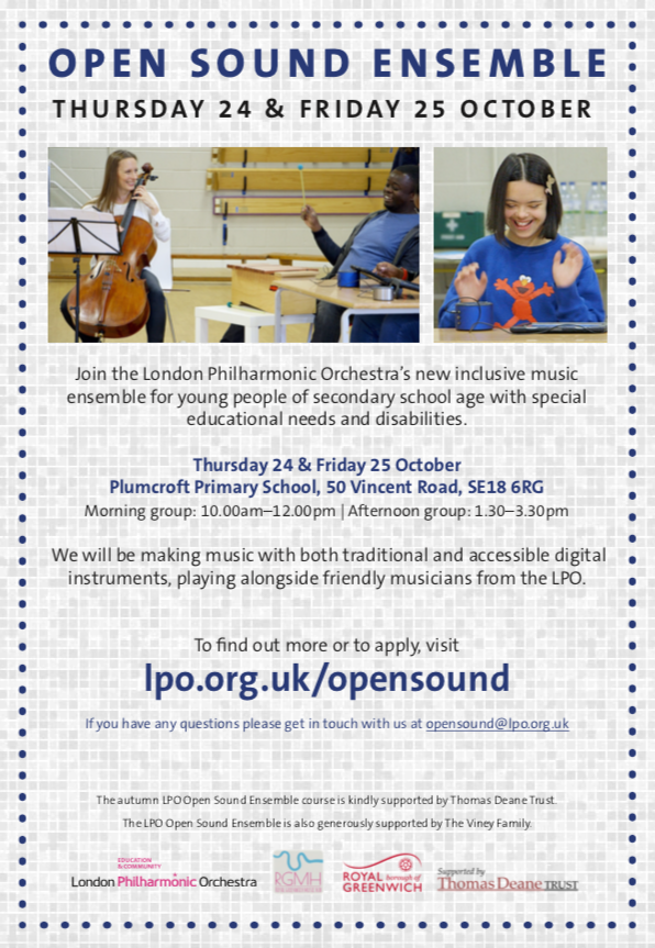 Leaflet for open sound ensemble