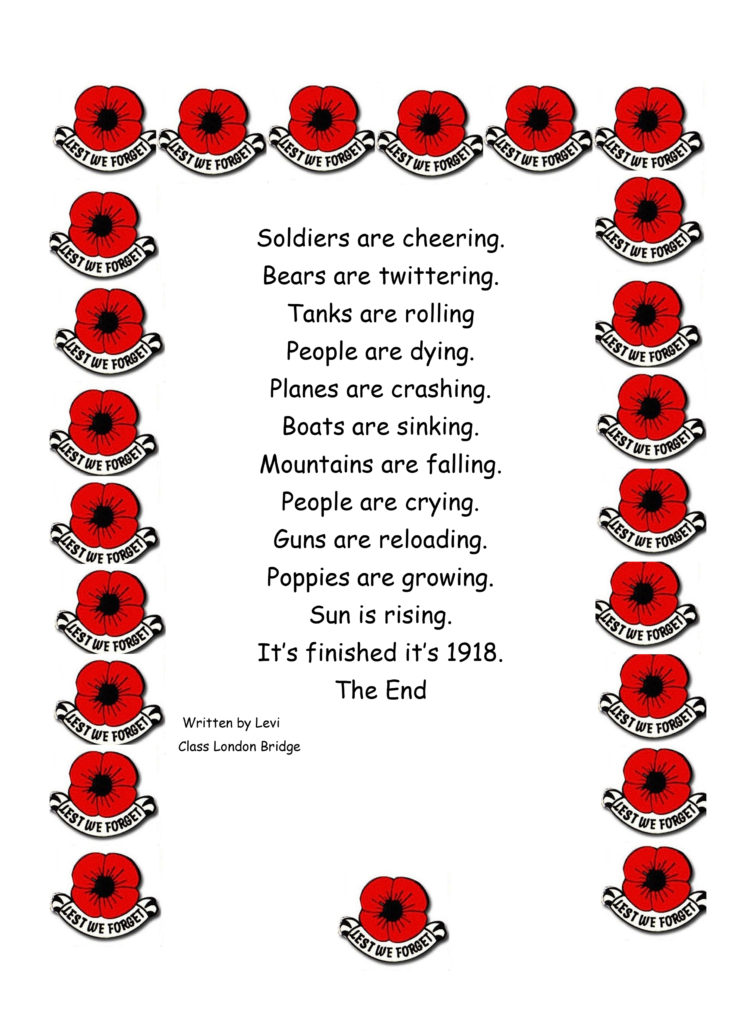 A poem about war