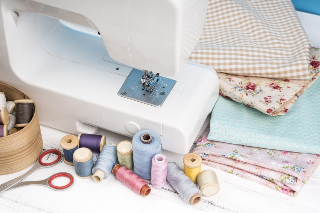 Sewing machine and material