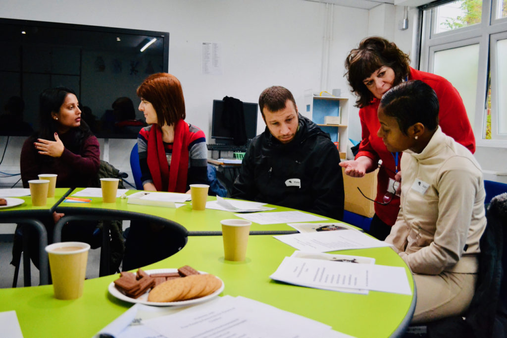 Parents/carers in a workshop