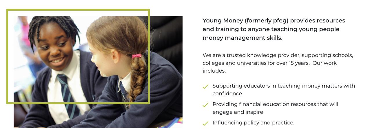 screen shot of young money website