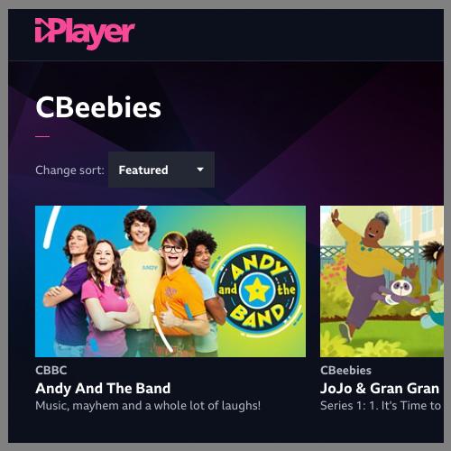 BBC Iplayer screen shot