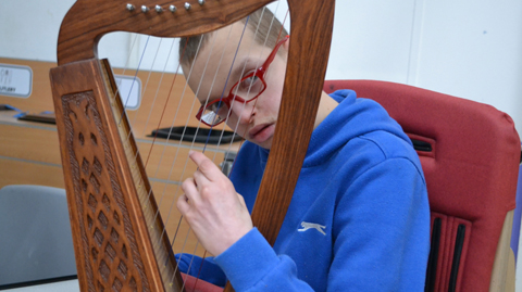 Child with harp