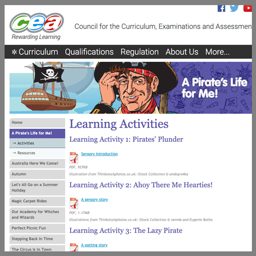 Pirate themed website