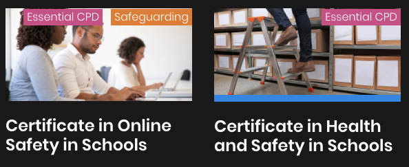 Images of people doing online training