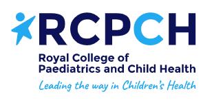 RCPCH logo - light and dark blue