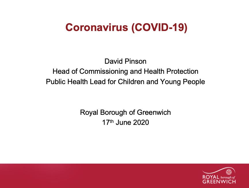 Text - Coronavirus presentation title page