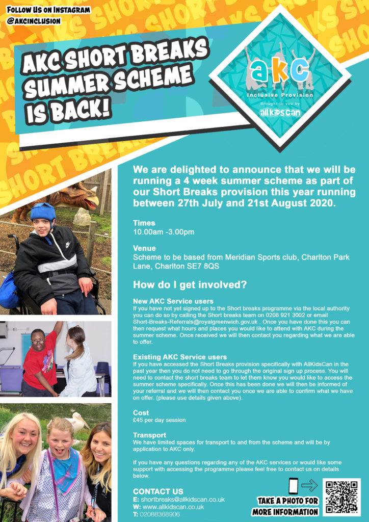 Leaflet for summer scheme with images of children doing activities
