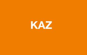 KAZ on ornage background
