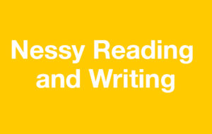 Nessy Reading on yellow background