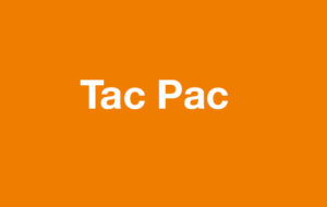 Tac Pac on orange background